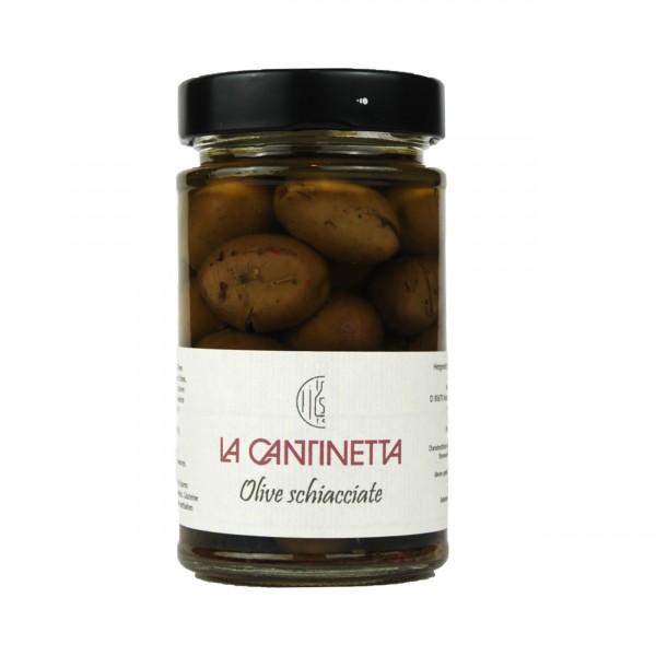 Olive Schiacciate | La Cantinetta