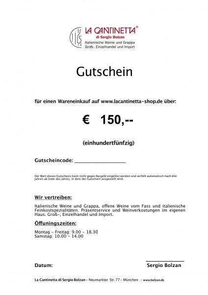 La Cantinetta Gutschein € 150,-   Die Geschenkidee